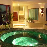 Our gorgeous jacuzzi by night