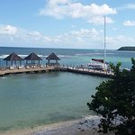 Ochi Beach Dock view from Sky Terrace. The watersports is to the right. :)