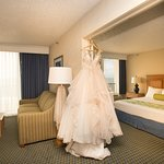 Bridal suites also have oceanfront views, two bathrooms and a jacuzzi tub in the living room!