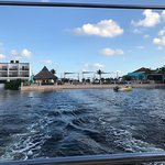 Leaving the dock on the boat excursion