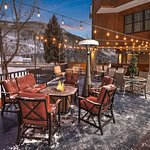 East End Deck BBQ area with Fire Pit and heater - Winter