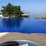 The view from the roof top infinity pool.