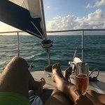 Romantic sail back to shore.