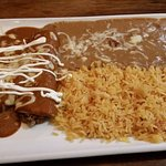 Chile Relleno and beef enchilada