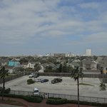 King Bed Room view across Galveston towards Cruise Terminal