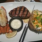 6oz Lobster special with petite filet