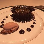 Chocolate mousse and gelato