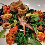 squid with broccoli rabe