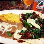 Delicious fajita and tacos al pastor