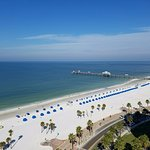 Daytime view from the balcony of the Hyatt Regency Clearwater