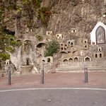 Grotto with miniature houses in Positano