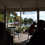Lunch area over looking River St Lucie