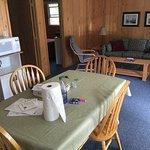 Inside chalet, all included, beding, furniture, fridge, stove, towels, more..