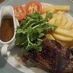 Steak, yep medium rare and it was.