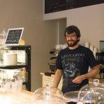 """Not Da Vinci but makes perfect """"un cafe""""."""