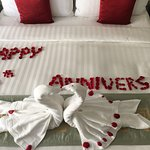 In-room surprise when we arrived for our 10 yr anniversary!