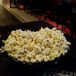 Some popcorn to munch on before the sliders arrived
