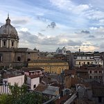View of the Rome skyline from the terrace