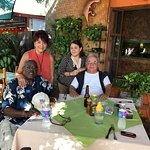 Lunch with the owners, Juan Carlos and wife Martha