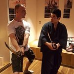 Being able to practice some of the forms with the Samurai master was the highlight of my day.