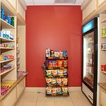 24-Hour Pantry offers snacks, drinks, gifts and amenities for sale.