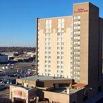 Hilton Garden Inn Downtown Saskatoon overlooks the city.