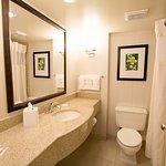 In-room bathrooms.