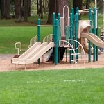 Clean and modern playground equipment for the kids