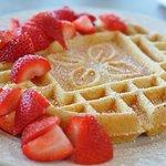 Freshly waffles on our breakfast buffet.