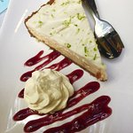 Key Lime Pie with Coconut cream and cream on the side