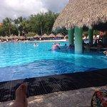 The main pool and pool bar.