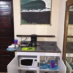Kitchen in all rooms include, Fridge, Microwave, Stove, Toaster, Coffee maker, pot/pans, dishes/