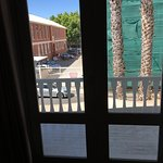 Shared, smoking balcony