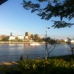 View from a lovely little restaurant on the Brisbane River near the apartments!
