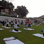 Yoga class with Chopra center