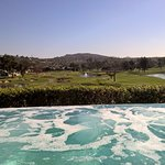 Jacuzzi and golf course view