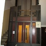 Very cool old style elevator up to the Eterna Roma