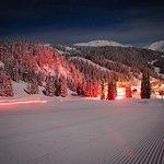 Sunshine Mountain Lodge Christmas Eve Torchlight display.