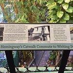 Catwalk leading to Hemingway's writing studio where over 70% of his writing were written