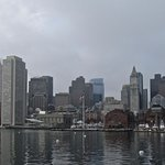 View of Boston from the ferry ride at the end.