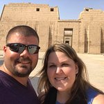 Visiting a our favorite temple in Luxor.
