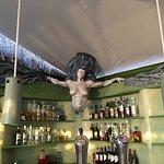 Mermaid overseeing the bar