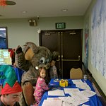 Making krafts with Wolly (Mammoth Mascot)!