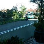 Jalan di depan Sensa hotel menuju Ciwalk mall