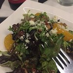 Escargot and a Hip Hop Salad.  Great meal in Greenville South Carolina