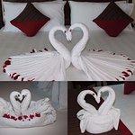 Towel Designs in Room