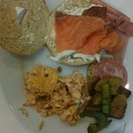 Breakfast , smoked salmon & cream cheese <3
