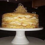 Crepe Suzette Crepe Cake with Ciandied Citrus Zest