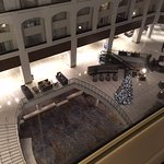 View from 6th floor room into lobby