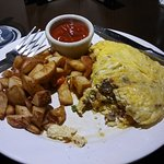 The omelets at Terra Nova Grille & Lounge at the Four Points Sheraton by Richmond Airport is gre